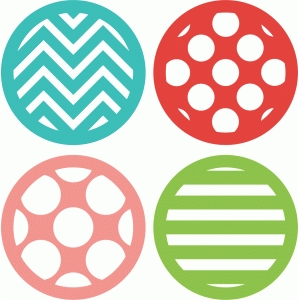 4 patterned circles