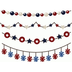 4th of july banners/borders set of 4