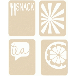 snack journaling card set