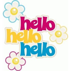 ppbn hello title with flower accents