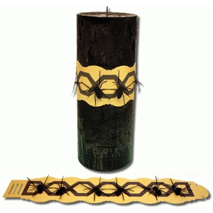 halloween candle wrap