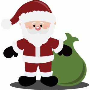 santa claus with toy sack