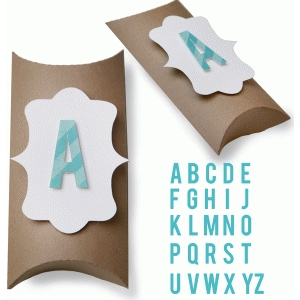 alphabet pillow box