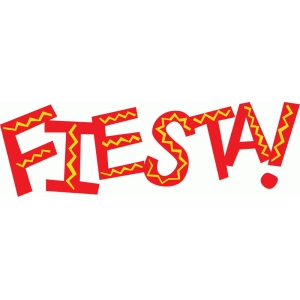 fiesta word art