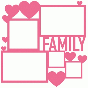 family collage frame page mat