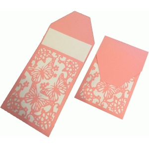 lace butterfly gift card/tag sleeve