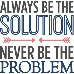 always be the solution phrase