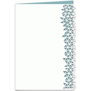 geometric triangle lace edged 7x5 card