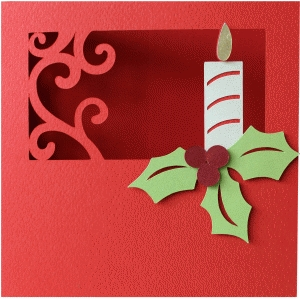 5x5 christmas candle card