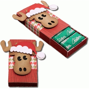 3d santa moose 8 count sliding candy box