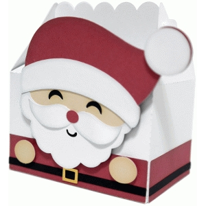 cute santa claus box