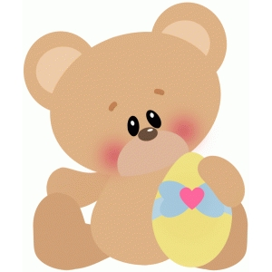 easter bear w egg