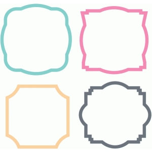 fancy square frames set