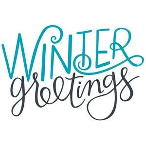 winter greetings handlettered