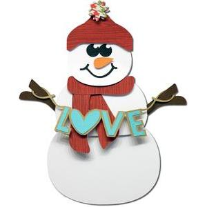 fold flat snowman with stand