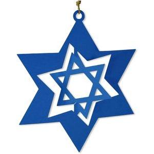 star of david - chanukah - flip ornament
