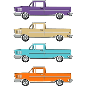 auto retro truck print and cut
