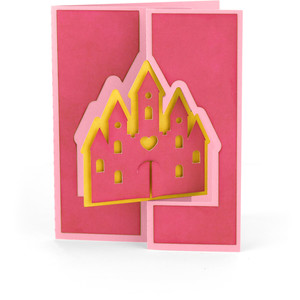 flip flap card princess castle