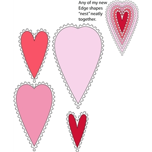 8 piece stamp edge heart set 3