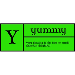 y is for yummy pc