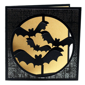 bats circle window card
