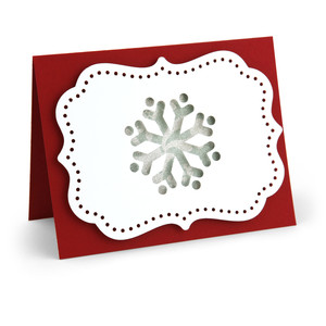 a2 pop dot card snowflake