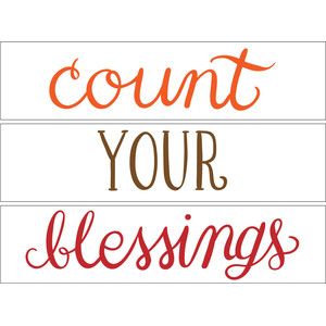 count your blessings lightbox words