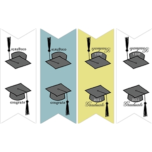 grad day banner shapes