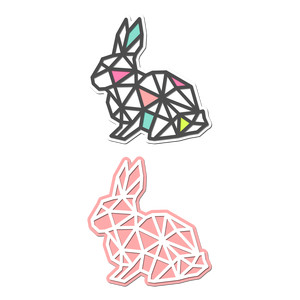 geometric mesh rabbit