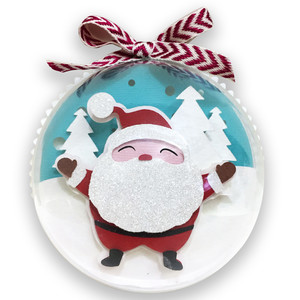 santa claus christmas ball