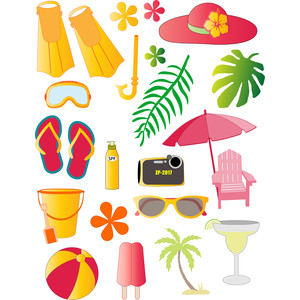 travel set - beach stickers