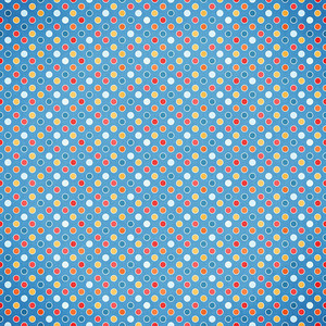 blue with multi color circles paper