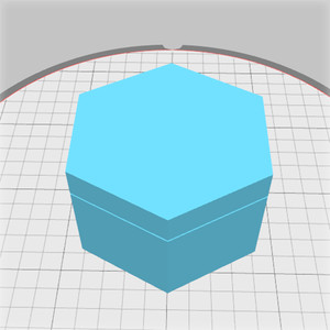 hexagonal box with blank lid