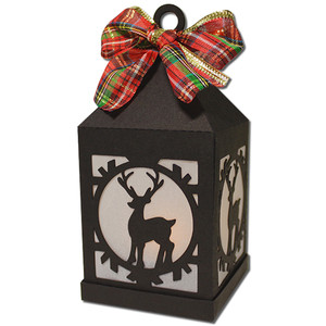 reindeer hanging tea light lantern