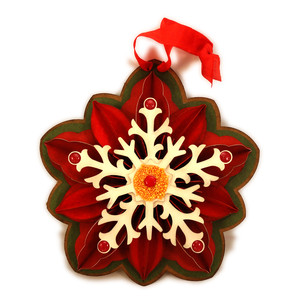 poinsettia 3d large ornament