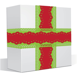 double ribbon gift wrapper set