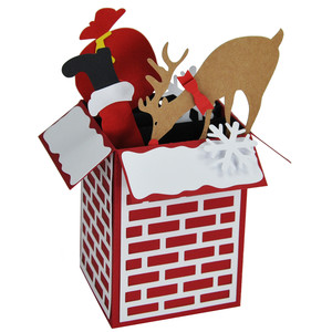 rudolph on the chimney card in a box