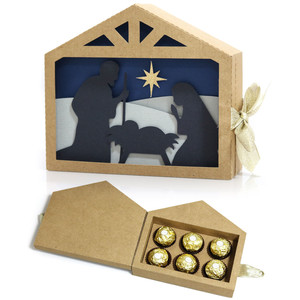 nativity scene box for chocolate candy