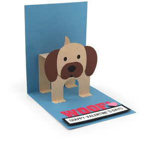 pop up card dog