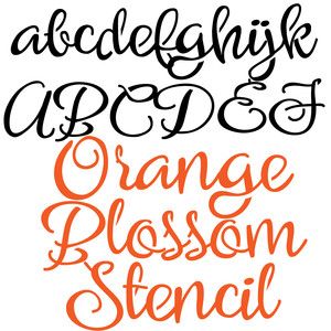 zp orange blossom stencil
