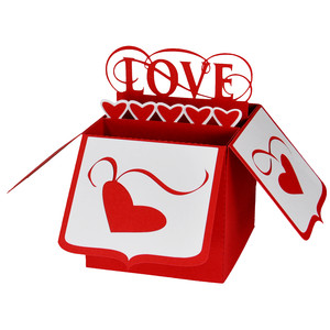 valentine love card in a box