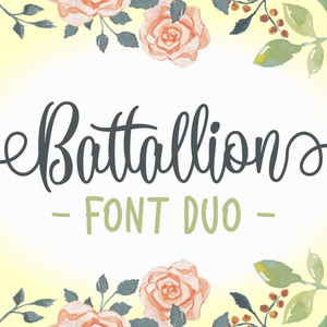 battallion font duo