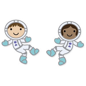 space kids, astronauts