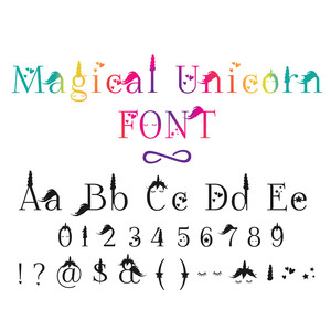 magical unicorn font