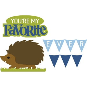 favorite/hedgehog (pop-up series)