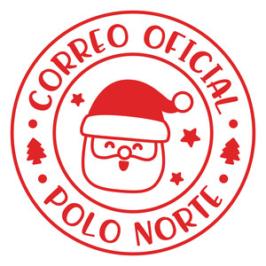 papá noel sello