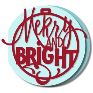 ornament card - merry & bright