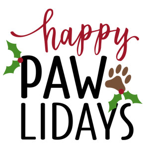 happy paw-lidays phrase