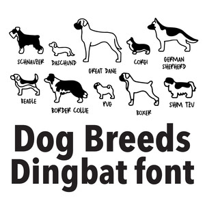dog breeds dingbats