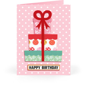 5x7 birthday present card